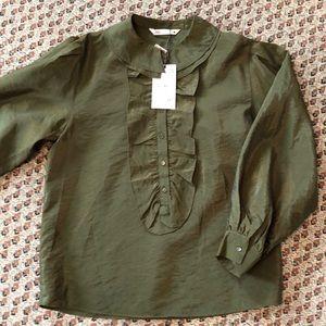 NWT ZARA Olive Green Blouson/Tunic size M